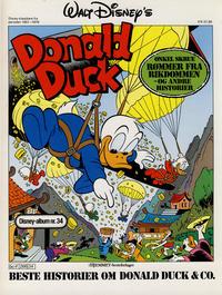 Cover Thumbnail for Walt Disney's Beste Historier om Donald Duck & Co [Disney-Album] (Hjemmet / Egmont, 1978 series) #34 - Onkel Skrue rømmer fra rikdommen - og andre historier