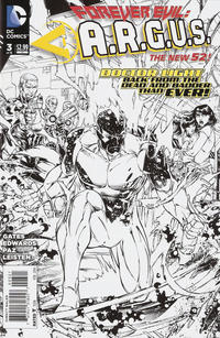 Cover Thumbnail for Forever Evil: A.R.G.U.S. (DC, 2013 series) #3 [Jeremy Roberts / Rob Hunter Black & White Cover]