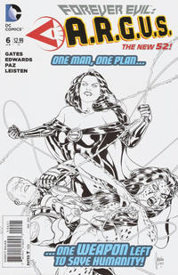 Cover Thumbnail for Forever Evil: A.R.G.U.S. (DC, 2013 series) #6 [Mikel Janin Black & White Cover]