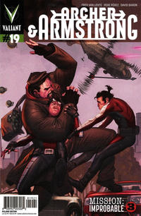 Cover Thumbnail for Archer and Armstrong (Valiant Entertainment, 2012 series) #19 [Cover B - Pullbox Edition - Jorge Molina]