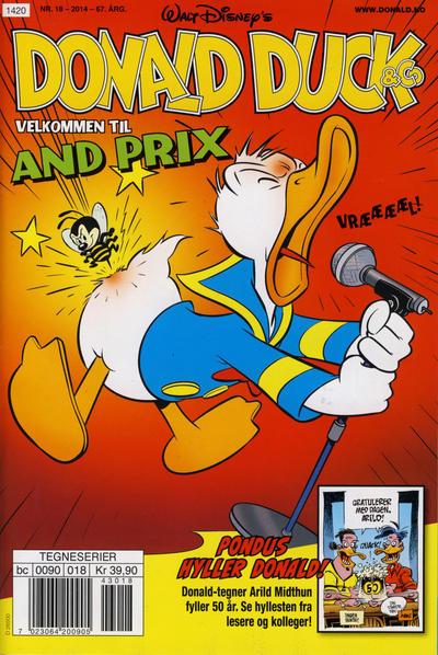 Cover for Donald Duck & Co (Hjemmet / Egmont, 1948 series) #18/2014