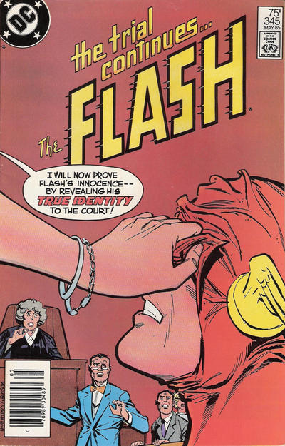 Cover for The Flash (DC, 1959 series) #345 [Direct Sales Variant]