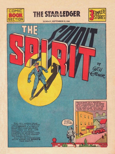 Cover for The Spirit (Register and Tribune Syndicate, 1940 series) #9/22/1940