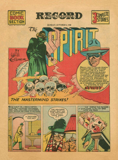 Cover for The Spirit (Register and Tribune Syndicate, 1940 series) #10/6/1940