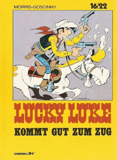 Cover for 16/22 (Carlsen Comics [DE], 1983 series) #15 - Lucky Luke kommt gut zum Zug