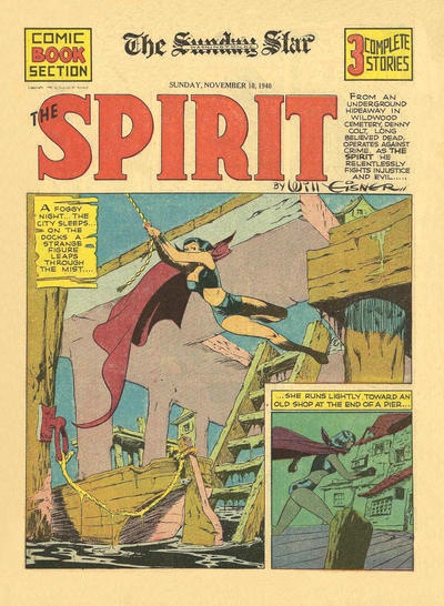 Cover for The Spirit (Register and Tribune Syndicate, 1940 series) #11/10/1940