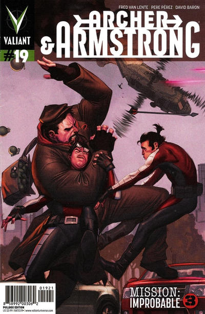 Cover for Archer and Armstrong (Valiant Entertainment, 2012 series) #19 [Cover A - Lewis LaRosa]