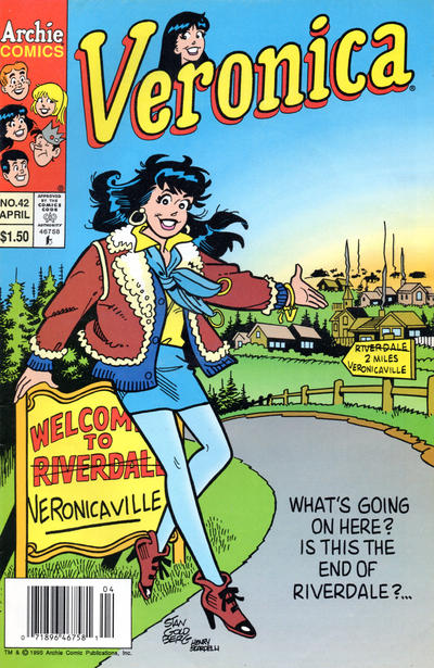 Cover for Veronica (Archie, 1989 series) #42 [Direct Edition]