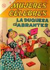 Cover for Mujeres Célebres (Editorial Novaro, 1961 series) #34