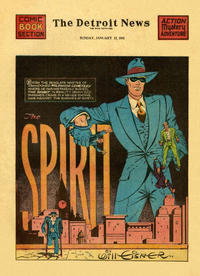 Cover Thumbnail for The Spirit (Register and Tribune Syndicate, 1940 series) #1/12/1941 [Detroit News edition]