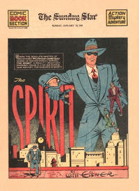 Cover Thumbnail for The Spirit (Register and Tribune Syndicate, 1940 series) #1/12/1941 [Washington DC Star edition]