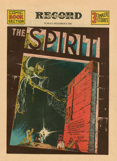Cover for The Spirit (Register and Tribune Syndicate, 1940 series) #12/8/1940