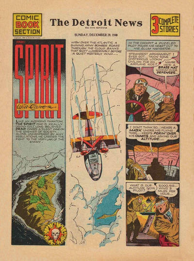 Cover for The Spirit (Register and Tribune Syndicate, 1940 series) #12/29/1940