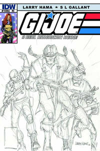 Cover Thumbnail for G.I. Joe: A Real American Hero (IDW, 2010 series) #186 [Larry Hama Retailer Incentive Cover]