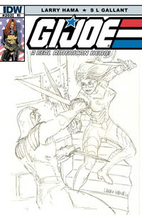 Cover Thumbnail for G.I. Joe: A Real American Hero (IDW, 2010 series) #202 [Cover RI - Incentive Larry Hama Sketch Variant]