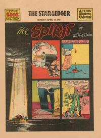 Cover Thumbnail for The Spirit (Register and Tribune Syndicate, 1940 series) #4/13/1941 [Newark NJ Star Ledger edition]