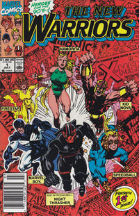 Cover Thumbnail for The New Warriors (Marvel, 1990 series) #1 [Newsstand]