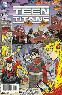 Cover Thumbnail for Teen Titans (DC, 2011 series) #19 [Mad Magazine Variant Cover]