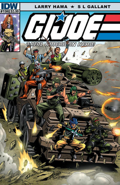 Cover for G.I. Joe: A Real American Hero (IDW, 2010 series) #196 [Subscription Variant Blank Sketch Cover]
