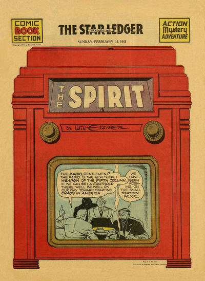 Cover for The Spirit (Register and Tribune Syndicate, 1940 series) #2/16/1941