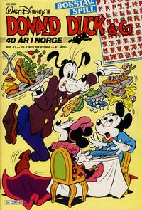 Cover Thumbnail for Donald Duck & Co (Hjemmet / Egmont, 1948 series) #43/1988