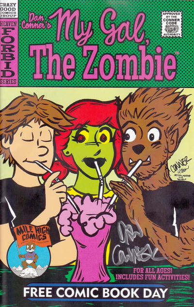 Cover for Dan Conner's My Gal, the Zombie / Little Bronco FCBD Special (Crazy Good Comics, 2014 series)