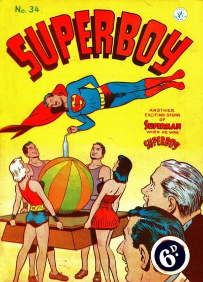 Cover for Superboy (K. G. Murray, 1949 series) #34 [Different price]