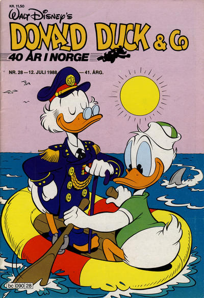 Cover for Donald Duck & Co (Hjemmet / Egmont, 1948 series) #28/1988