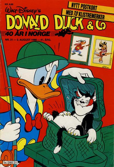 Cover for Donald Duck & Co (Hjemmet / Egmont, 1948 series) #31/1988