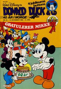 Cover Thumbnail for Donald Duck & Co (Hjemmet / Egmont, 1948 series) #46/1988