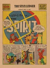 Cover Thumbnail for The Spirit (Register and Tribune Syndicate, 1940 series) #5/11/1941 [Newark NJ Star Ledger edition]