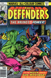 Cover Thumbnail for The Defenders (Marvel, 1972 series) #52 [British]