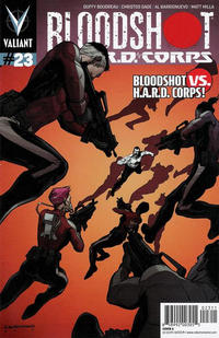 Cover Thumbnail for Bloodshot and H.A.R.D.Corps (Valiant Entertainment, 2013 series) #23 [Cover B - Al Barrionuevo]