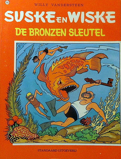 Cover for Suske en Wiske (Standaard Uitgeverij, 1967 series) #116 - De bronzen sleutel
