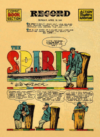 Cover for The Spirit (Register and Tribune Syndicate, 1940 series) #4/20/1941
