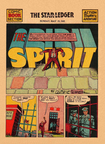 Cover for The Spirit (Register and Tribune Syndicate, 1940 series) #5/25/1941