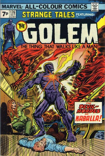 Cover for Strange Tales (Marvel, 1973 series) #176 [British]