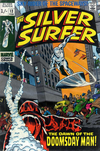Cover for The Silver Surfer (Marvel, 1968 series) #13 [Regular Edition]
