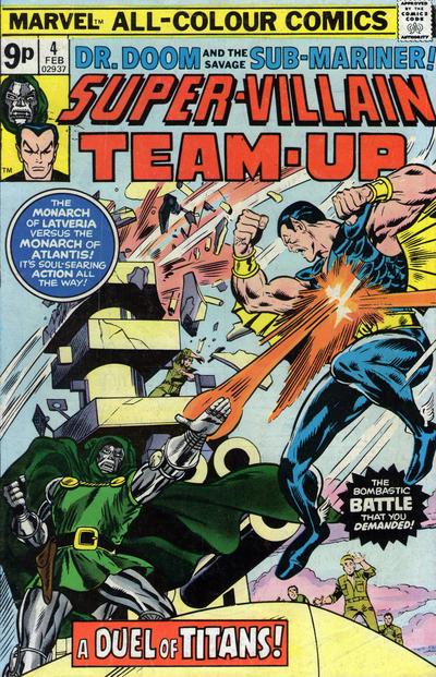Cover for Super-Villain Team-Up (Marvel, 1975 series) #4 [British]