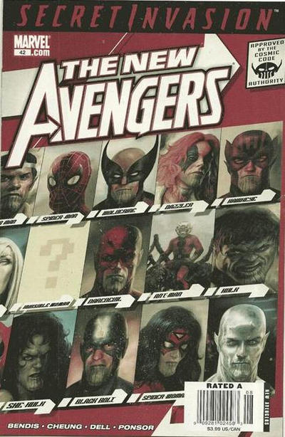 Cover for New Avengers (Marvel, 2005 series) #42
