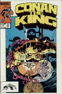 Cover Thumbnail for Conan the King (Marvel, 1984 series) #22 [Direct Edition]