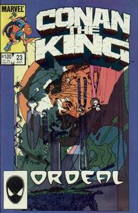 Cover Thumbnail for Conan the King (Marvel, 1984 series) #23 [Direct Edition]
