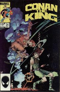 Cover Thumbnail for Conan the King (Marvel, 1984 series) #24 [Direct Edition]