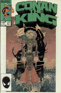 Cover Thumbnail for Conan the King (Marvel, 1984 series) #27 [Direct Edition]
