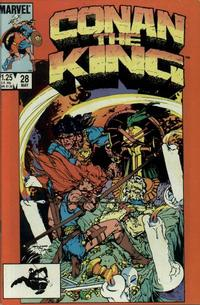 Cover Thumbnail for Conan the King (Marvel, 1984 series) #28 [Direct Edition]