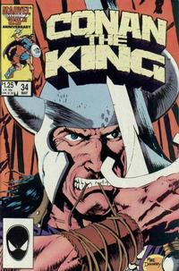 Cover Thumbnail for Conan the King (Marvel, 1984 series) #34 [Direct Edition]