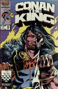 Cover Thumbnail for Conan the King (Marvel, 1984 series) #36 [Direct Edition]