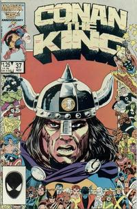 Cover Thumbnail for Conan the King (Marvel, 1984 series) #37 [Direct Edition]
