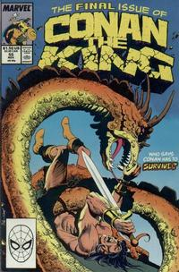 Cover Thumbnail for Conan the King (Marvel, 1984 series) #55 [Direct Edition]