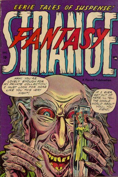 Cover for Strange Fantasy (Farrell, 1952 series) #9